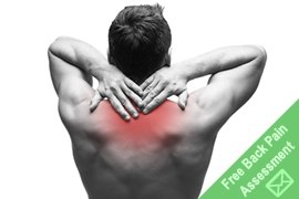 man with upper back pain